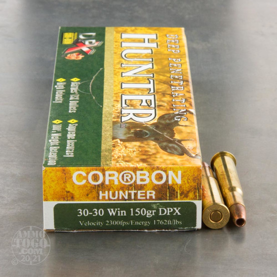 20rds - 30-30 Corbon DPX 150gr. Hollow Point Ammo