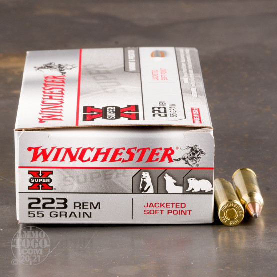 20rds - .223 Winchester Super-X 55gr. Pointed Soft Point Ammo