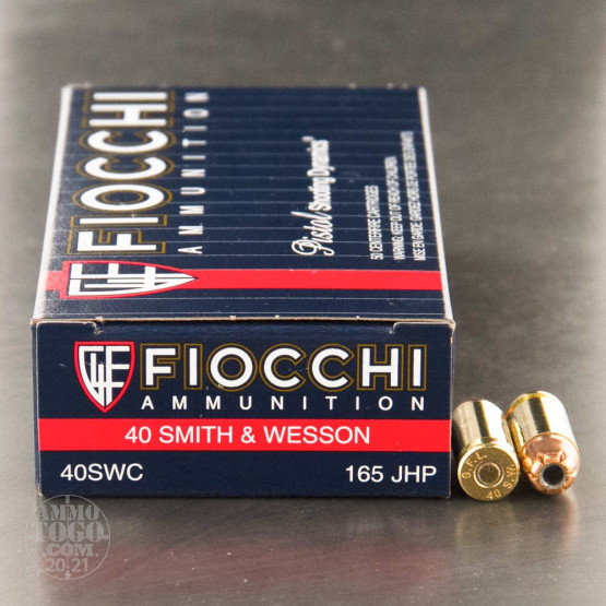 1000rds - 40 S&W Fiocchi 165gr. Jacketed Hollow Point Ammo