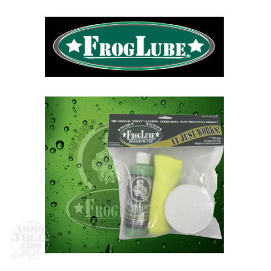 1 - FrogLube Kit Bag 8oz. Tub Paste Lube, 8 oz. Bottle CLP, and Cleaning Towel
