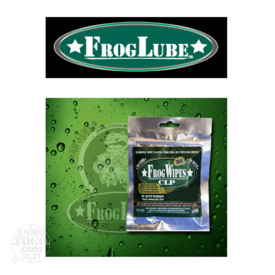 1 - FrogLube CLP Wipes 5-Pack Lube, Cleaner, and Protectant