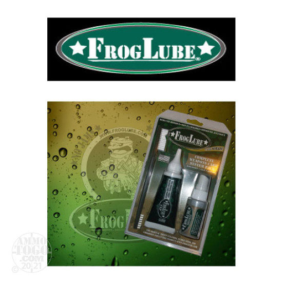 1 - FrogLube Kit Clamshell with CLP, Solvent, and Brush
