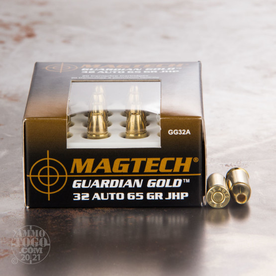 20rds - 32 Auto Magtech Guardian Gold 65gr. Jacketed Hollow Point Ammo