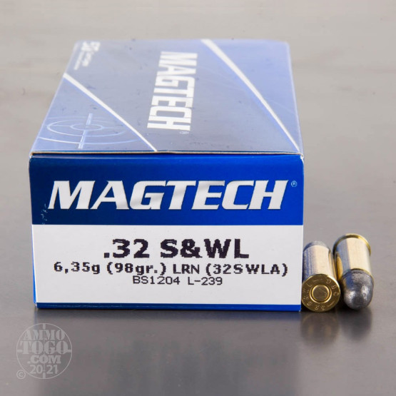 50rds - 32 S&W Long Magtech 98gr. Lead Round Nose Ammo