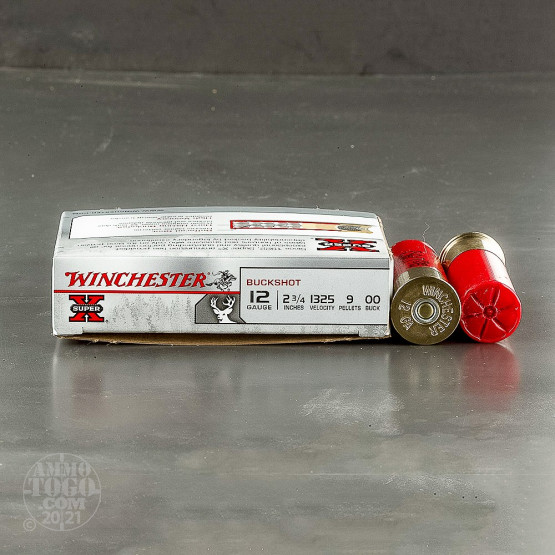 250rds - 12 Ga. Winchester Super-X Full Power 9 Pellet 00 Buck Ammo