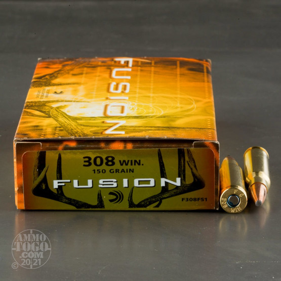 20rds – 308 Win Federal Fusion 150gr. SP Ammo