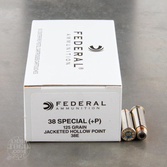 50rds - 38 Special Federal LE Hi-Shok 125gr. +P Hollow Point Ammo