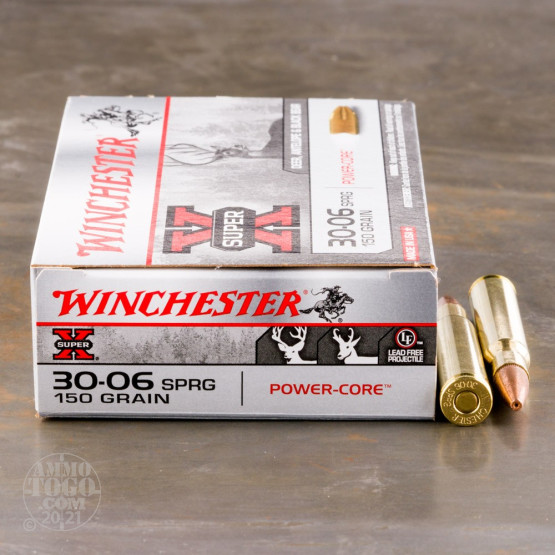 20rds - 30-06 Winchester Super-X Power Core 95/5 150gr. Lead Free HP Ammo