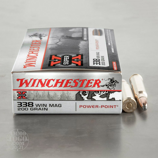 20rds - 338 Win Mag Winchester 200gr. Power Point Ammo