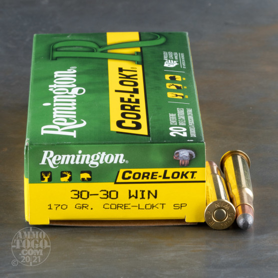 200rds –  30-30 Remington Core-Lokt 170gr. SP Ammo