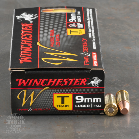 500rds - 9mm Winchester W Train and Defend 147gr. FMJ Ammo