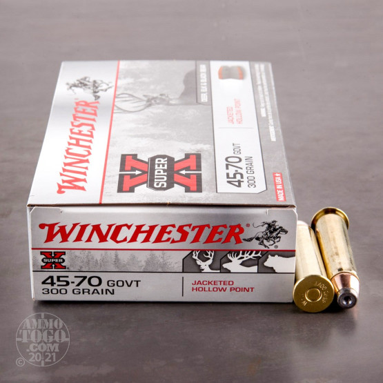 20rds - 45-70 Govt. Winchester 300gr. Super-X Jacketed Hollow Point Ammo