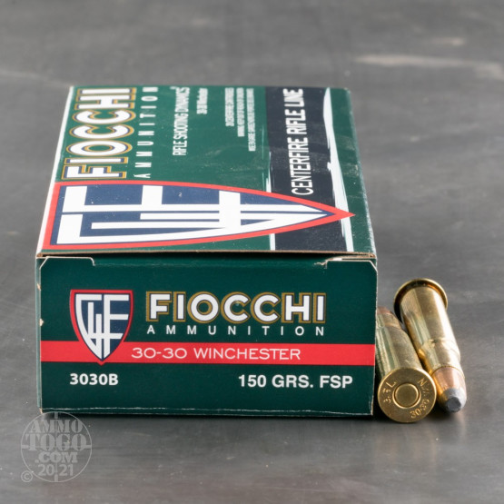 20rds - 30-30 Fiocchi 150gr. Pointed Soft Point Ammo