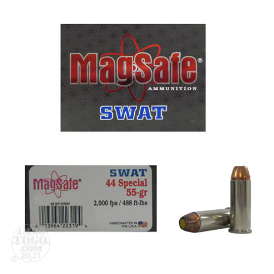 10rds - 44 Special Magsafe 55gr. SWAT Ammo