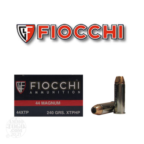50rds - 44 Mag Fiocchi 240gr XTP Jacketed Hollow Point Ammo