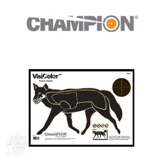 1 - Champion VisiColor Coyote Target 10 Pack