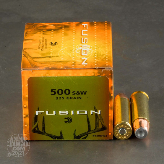 20rds - 500 S&W Federal Fusion 325gr. SP Ammo