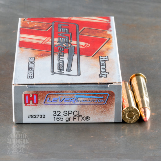 20rds - 32 Win. Special Hornady 165gr. LEVERevolution Ammo