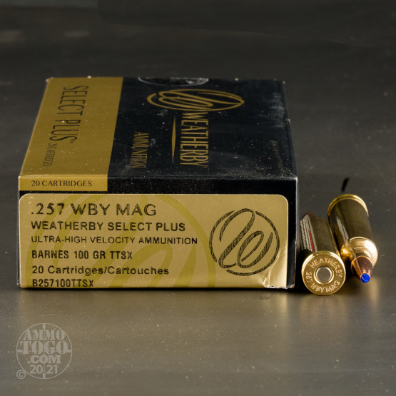 20rds – 257 Weatherby Magnum Weatherby 100gr. TSX Ammo