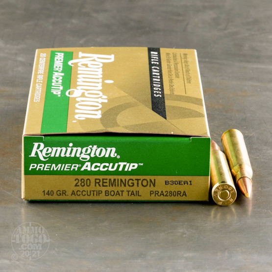 20rds – 280 Rem Remington Premier 140gr. AccuTip BT Ammo