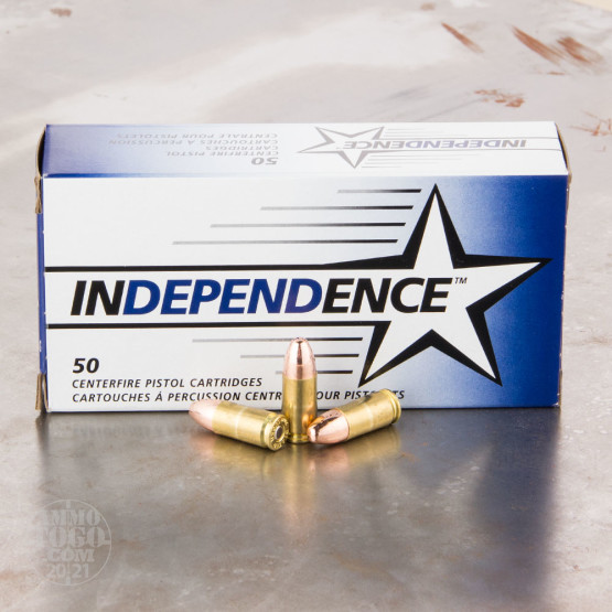 50rds - 9mm Independence 115gr. FMJ Ammo