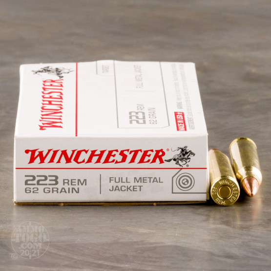 20rds - .223 Winchester USA 62gr. FMJ Ammo