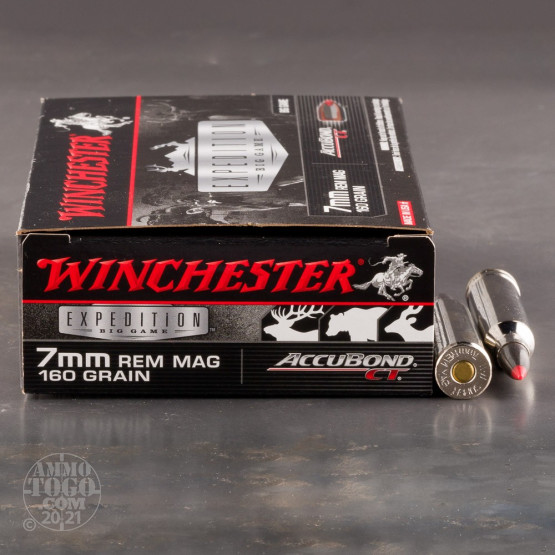 20rds - 7mm Rem. Mag Winchester Supreme 160gr. Accubond Ammo