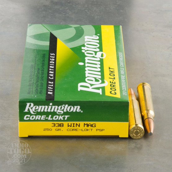 20rds - 338 Win Mag Remington Express 250gr. Core-Lokt PSP Ammo