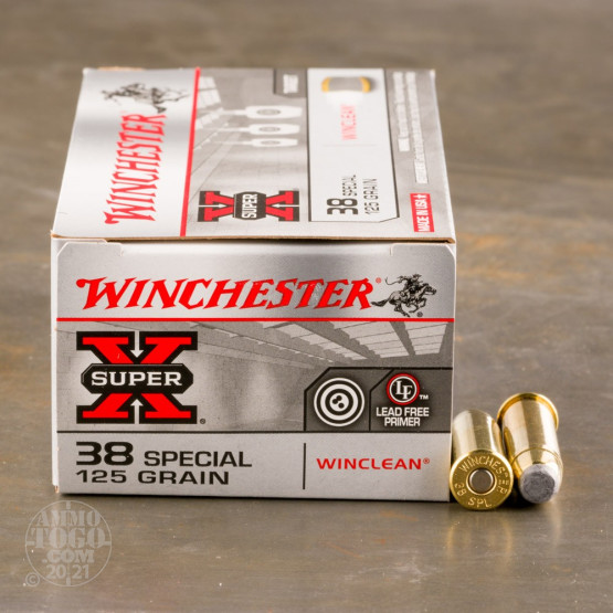 50rds - 38 Spec. Winchester 125gr WinClean Jacketed Soft Point