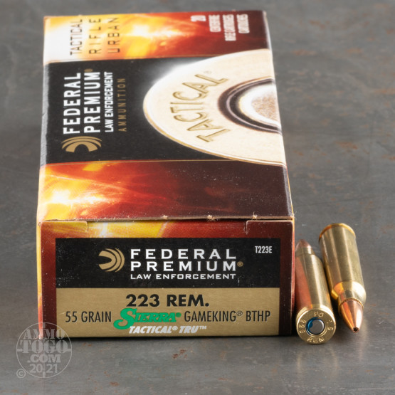 20rds - .223 Federal LE Tactical TRU 55gr. HP Ammo