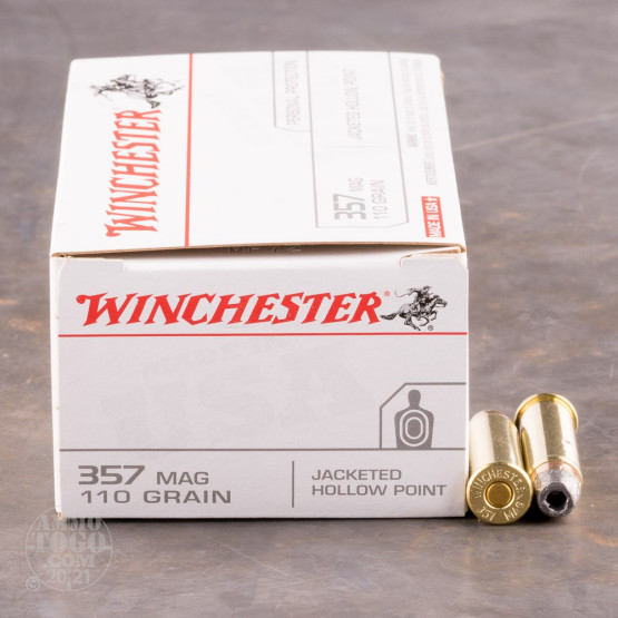 50rds - 357 Mag Winchester USA 110gr. Hollow Point Ammo