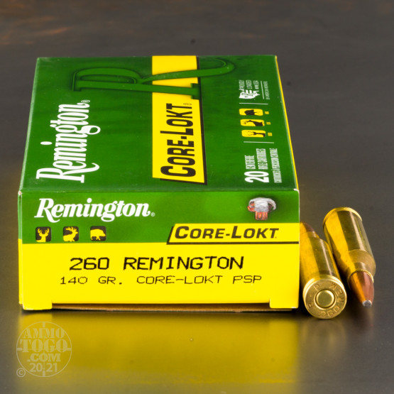 20rds - 260 Remington 140gr. Pointed Soft Point Ammo