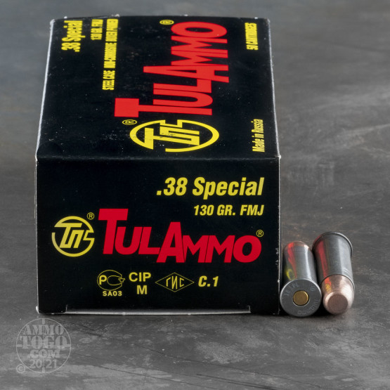 38 Special - 130 Grain FMJ - Tula - 50 Rounds