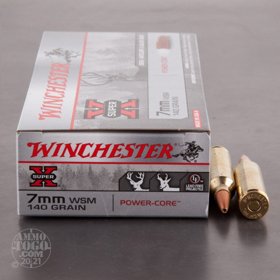 20rds - 7mm WSM Winchester Super-X 140gr. Power-Core Lead Free HP Ammo