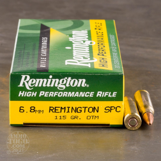 20rds - 6.8mm SPC Remington 115gr. Hollow Point OTM Ammo