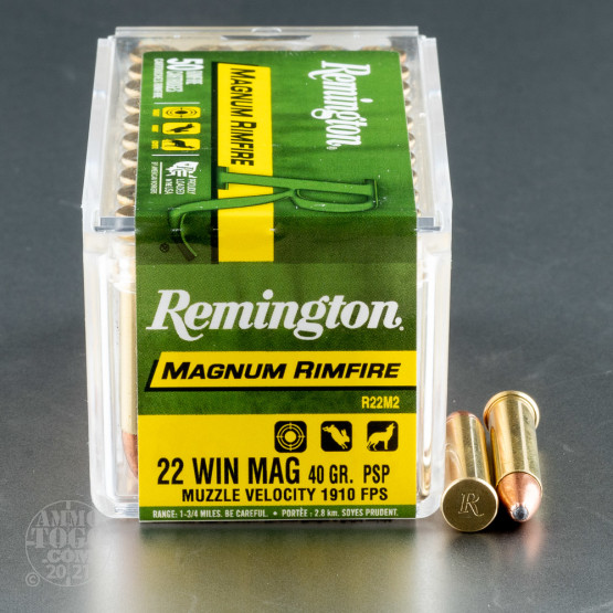 500rds - 22 Mag Remington 40gr. Pointed Soft Point Ammo