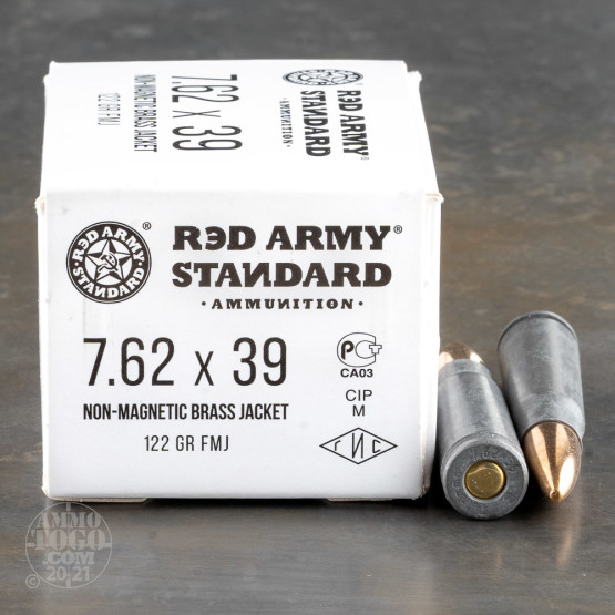 1000rds – 7.62x39 Red Army Standard 122gr. Nonmagnetic FMJ Ammo