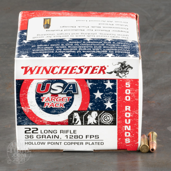 500rds – 22 LR Winchester USA Game & Target 36gr. CPHP Ammo