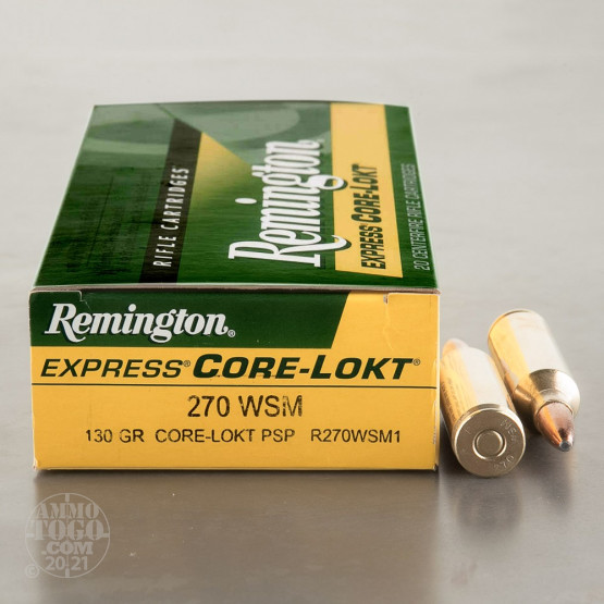 20rds - 270 WSM Remington 130gr. Core-Lokt Pointed Soft Point Ammo