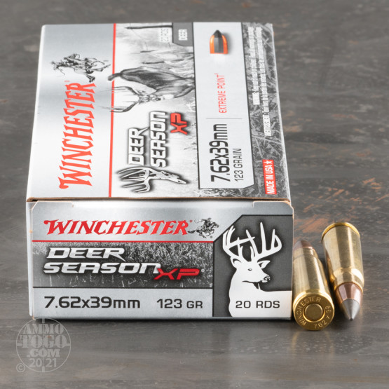 20rds – 7.62x39 Winchester Deer Season XP 123gr. Extreme Point Ammo