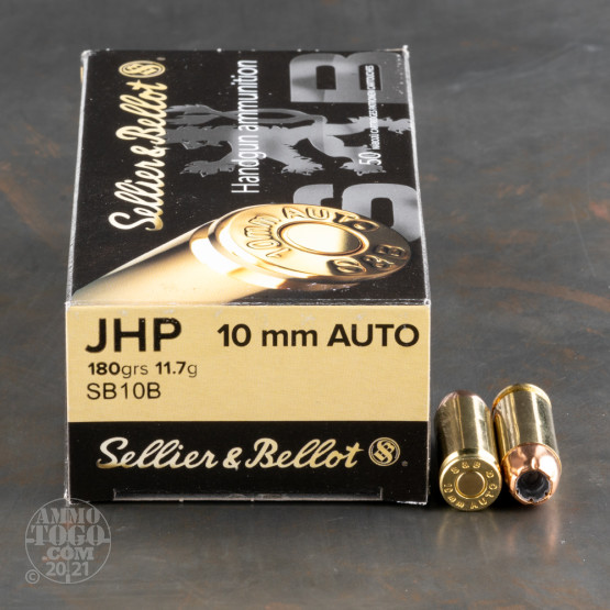 50rds - 10mm Sellier & Bellot 180gr. JHP Ammo