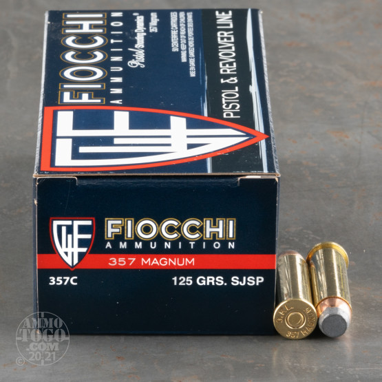 50rds - 357 Mag Fiocchi 125gr Semi Jacketed Soft Point
