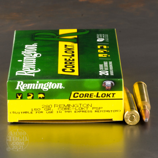 20rds - 280 Remington 150gr. Core-Lokt Pointed Soft Point Ammo