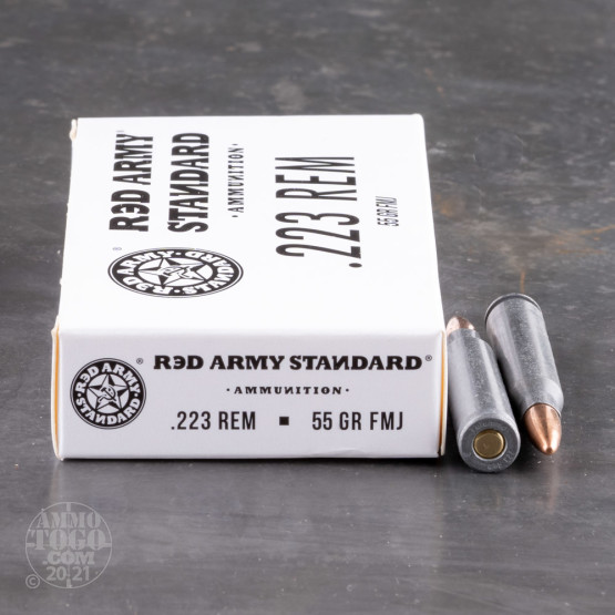 20rds – 223 Rem Red Army Standard 55gr. FMJ Ammo