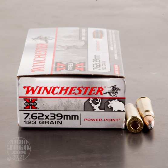 20rds - 7.62x39 Winchester Super-X 123gr. Soft Point Ammo