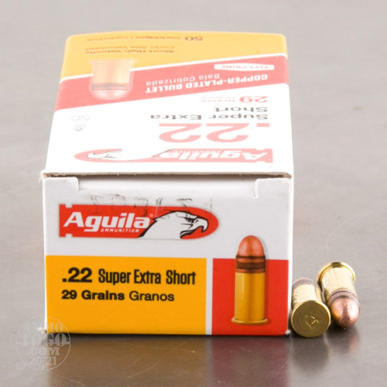 50rds - .22 Short Aguila 29gr. High Velocity Solid Point Ammo