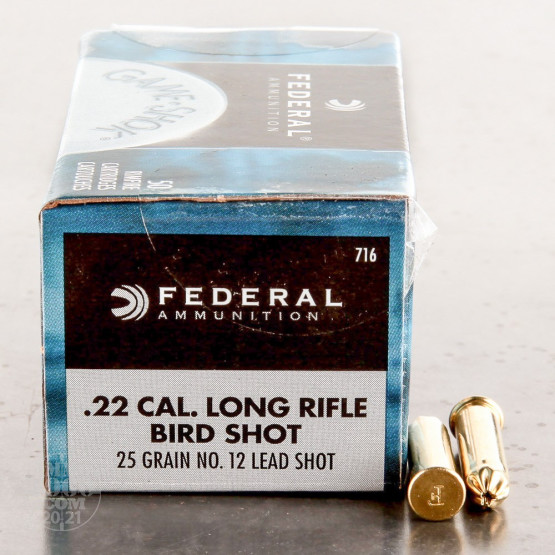 50rds - 22 LR Federal #12 Shot Shotshells