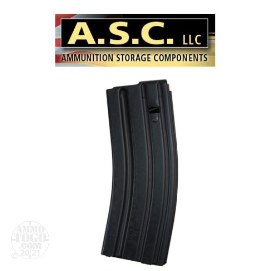 1 - ASC AR-15 .223 / 5.56 Stainless Steel 30rd. Magazine Orange Follower