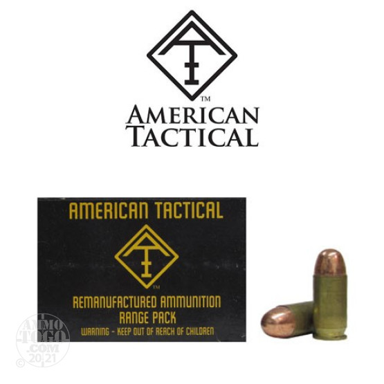 50rds - 45 ACP American Tactical Imports Re-Mfg. 230gr. TCJ Ammo
