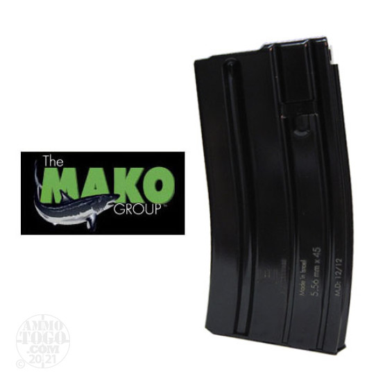 1 - Mako E-Lander AR-15/M16 20rd Blued Steel Magazine